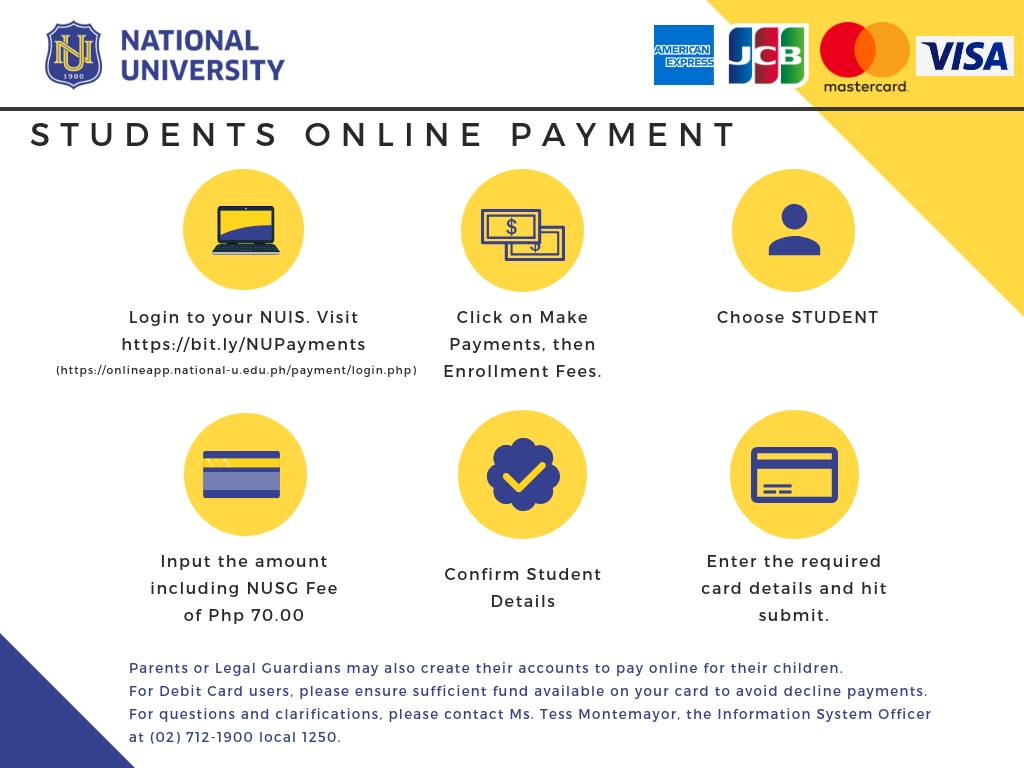 NUIS Online Payments