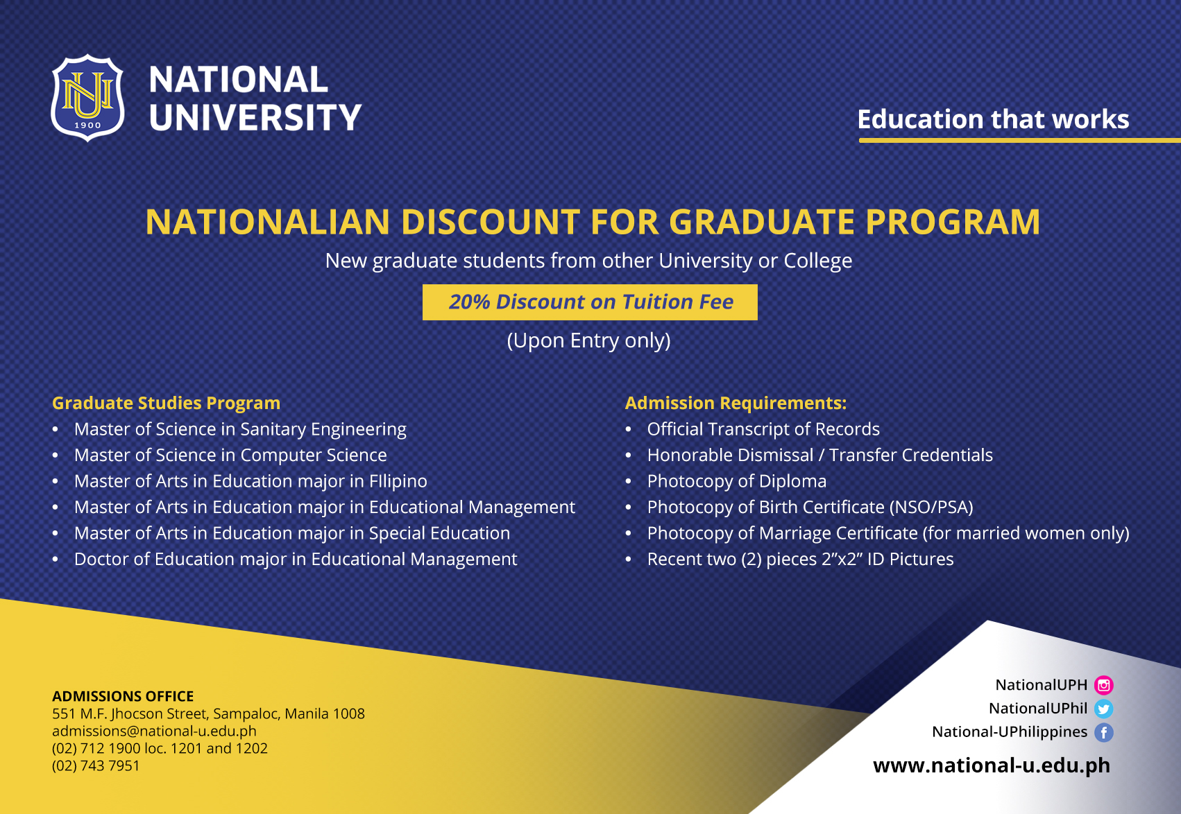 National University – Education that works