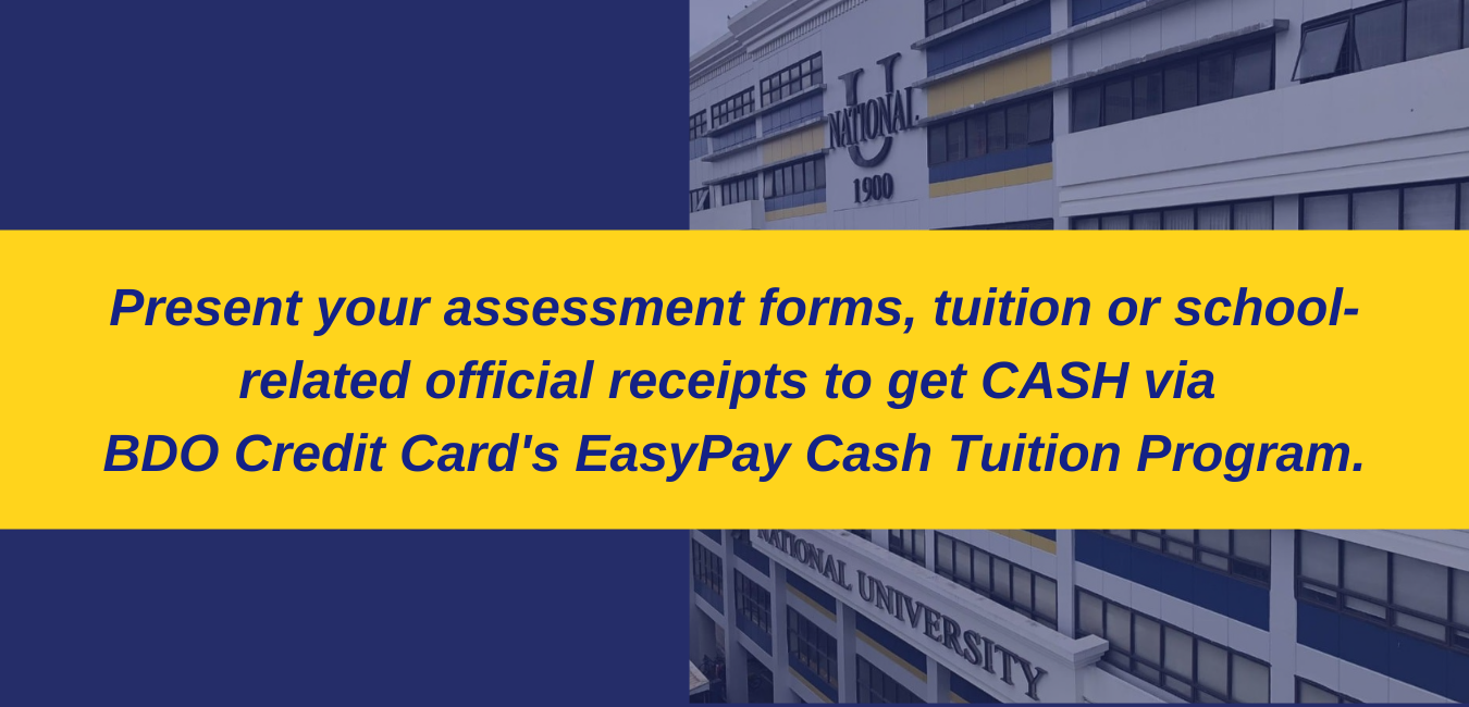 BDO Credit Card's EasyPay Cash Tuition Program